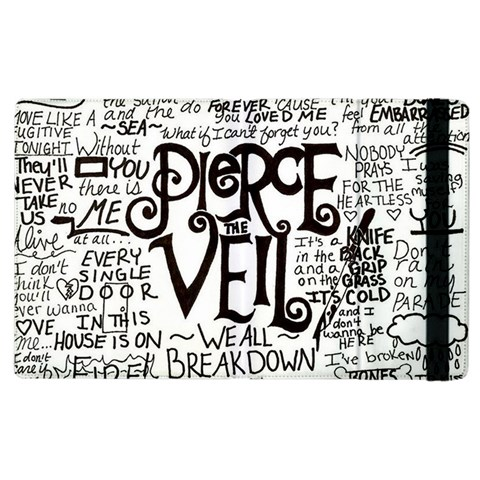 Pierce The Veil Music Band Group Fabric Art Cloth Poster Apple iPad 2 Flip Case
