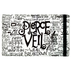 Pierce The Veil Music Band Group Fabric Art Cloth Poster Apple iPad 3/4 Flip Case