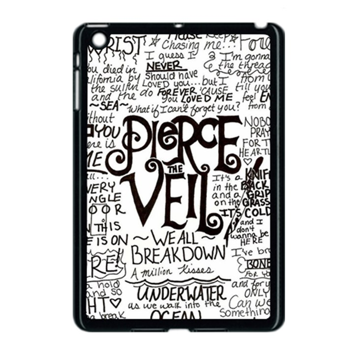 Pierce The Veil Music Band Group Fabric Art Cloth Poster Apple iPad Mini Case (Black)