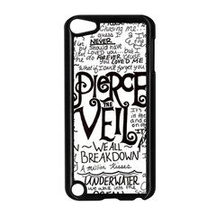 Pierce The Veil Music Band Group Fabric Art Cloth Poster Apple Ipod Touch 5 Case (black)
