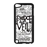 Pierce The Veil Music Band Group Fabric Art Cloth Poster Apple iPod Touch 5 Case (Black) Front
