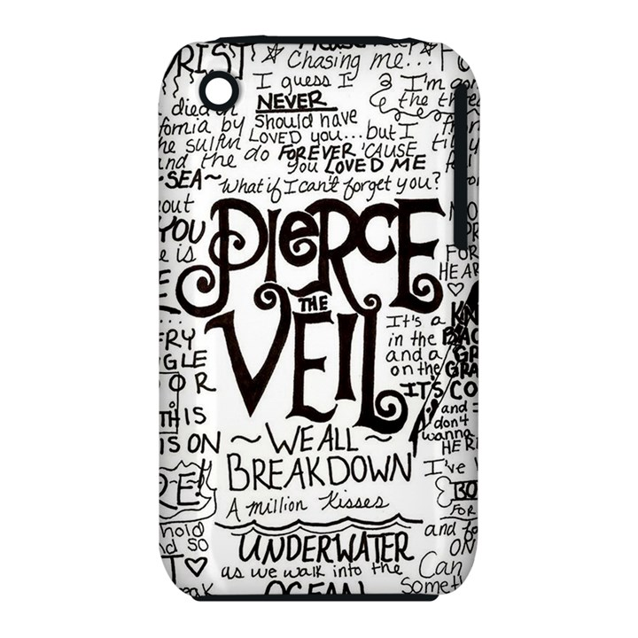 Pierce The Veil Music Band Group Fabric Art Cloth Poster Apple iPhone 3G/3GS Hardshell Case (PC+Silicone)