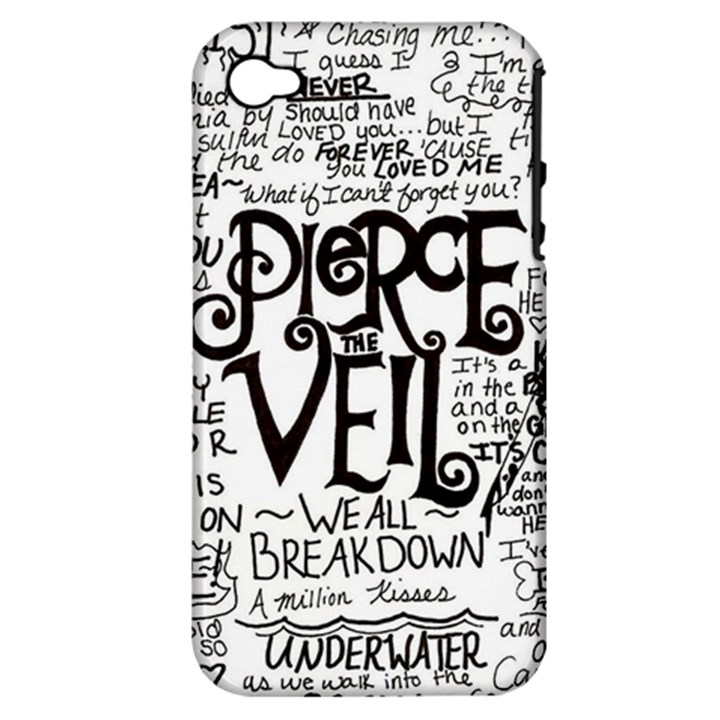 Pierce The Veil Music Band Group Fabric Art Cloth Poster Apple iPhone 4/4S Hardshell Case (PC+Silicone)