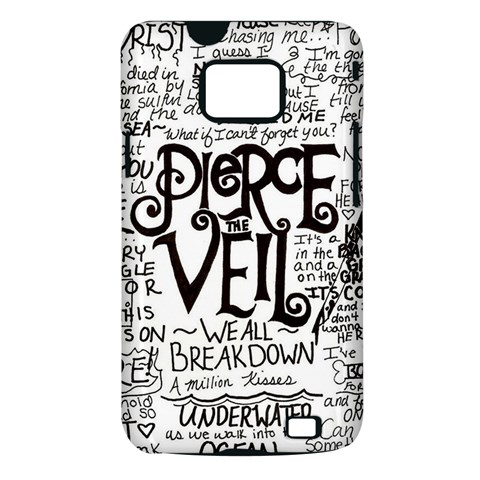 Pierce The Veil Music Band Group Fabric Art Cloth Poster Samsung Galaxy S II i9100 Hardshell Case (PC+Silicone)
