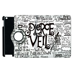 Pierce The Veil Music Band Group Fabric Art Cloth Poster Apple Ipad 2 Flip 360 Case
