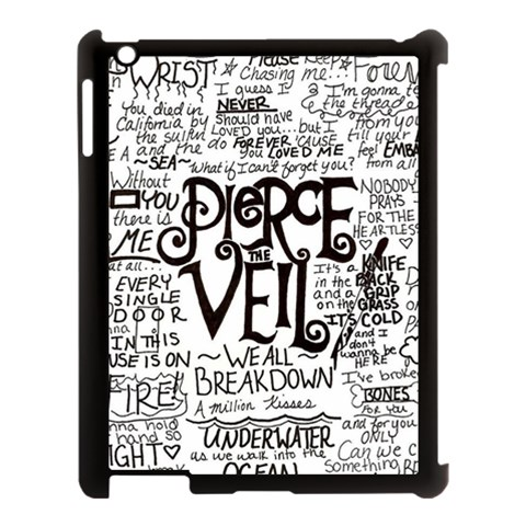 Pierce The Veil Music Band Group Fabric Art Cloth Poster Apple iPad 3/4 Case (Black)