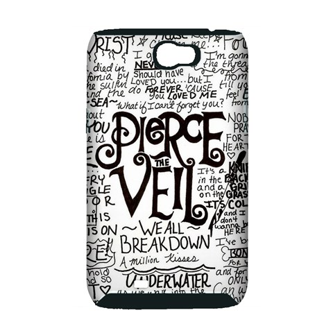 Pierce The Veil Music Band Group Fabric Art Cloth Poster Samsung Galaxy Note 2 Hardshell Case (PC+Silicone)