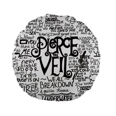 Pierce The Veil Music Band Group Fabric Art Cloth Poster Standard 15  Premium Round Cushions