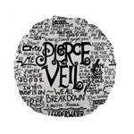 Pierce The Veil Music Band Group Fabric Art Cloth Poster Standard 15  Premium Round Cushions Back