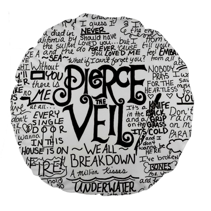 Pierce The Veil Music Band Group Fabric Art Cloth Poster Large 18  Premium Round Cushions