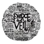 Pierce The Veil Music Band Group Fabric Art Cloth Poster Large 18  Premium Round Cushions Back