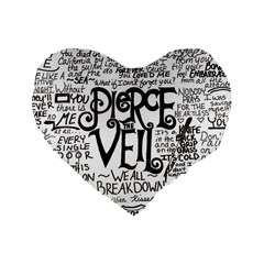 Pierce The Veil Music Band Group Fabric Art Cloth Poster Standard 16  Premium Heart Shape Cushions