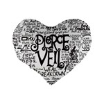 Pierce The Veil Music Band Group Fabric Art Cloth Poster Standard 16  Premium Heart Shape Cushions Back