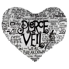 Pierce The Veil Music Band Group Fabric Art Cloth Poster Large 19  Premium Heart Shape Cushions