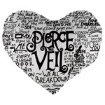 Pierce The Veil Music Band Group Fabric Art Cloth Poster Large 19  Premium Heart Shape Cushions Front