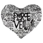 Pierce The Veil Music Band Group Fabric Art Cloth Poster Large 19  Premium Heart Shape Cushions Back