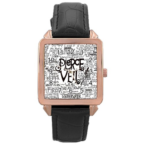 Pierce The Veil Music Band Group Fabric Art Cloth Poster Rose Gold Leather Watch
