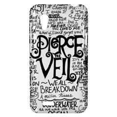 Pierce The Veil Music Band Group Fabric Art Cloth Poster HTC Desire VT (T328T) Hardshell Case