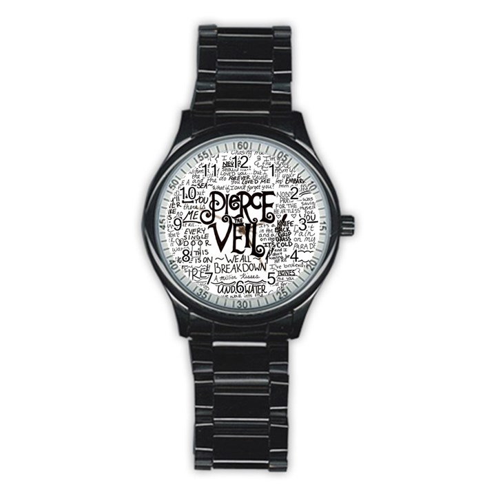 Pierce The Veil Music Band Group Fabric Art Cloth Poster Stainless Steel Round Watch