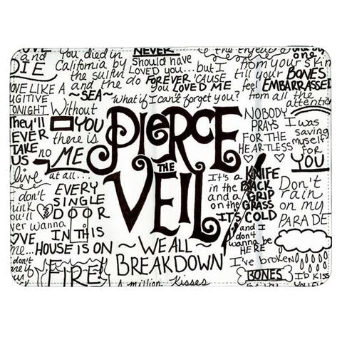 Pierce The Veil Music Band Group Fabric Art Cloth Poster Samsung Galaxy Tab 7  P1000 Flip Case