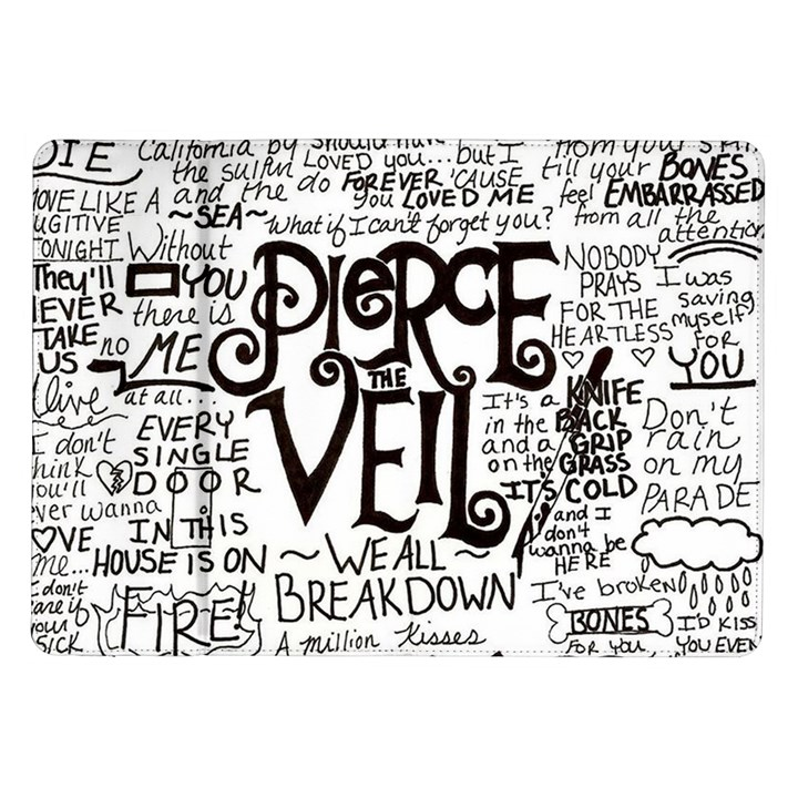 Pierce The Veil Music Band Group Fabric Art Cloth Poster Samsung Galaxy Tab 10.1  P7500 Flip Case