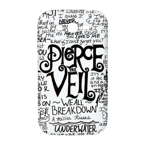 Pierce The Veil Music Band Group Fabric Art Cloth Poster Samsung Galaxy Grand DUOS I9082 Hardshell Case