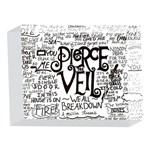 Pierce The Veil Music Band Group Fabric Art Cloth Poster 5 x 7  Acrylic Photo Blocks Front