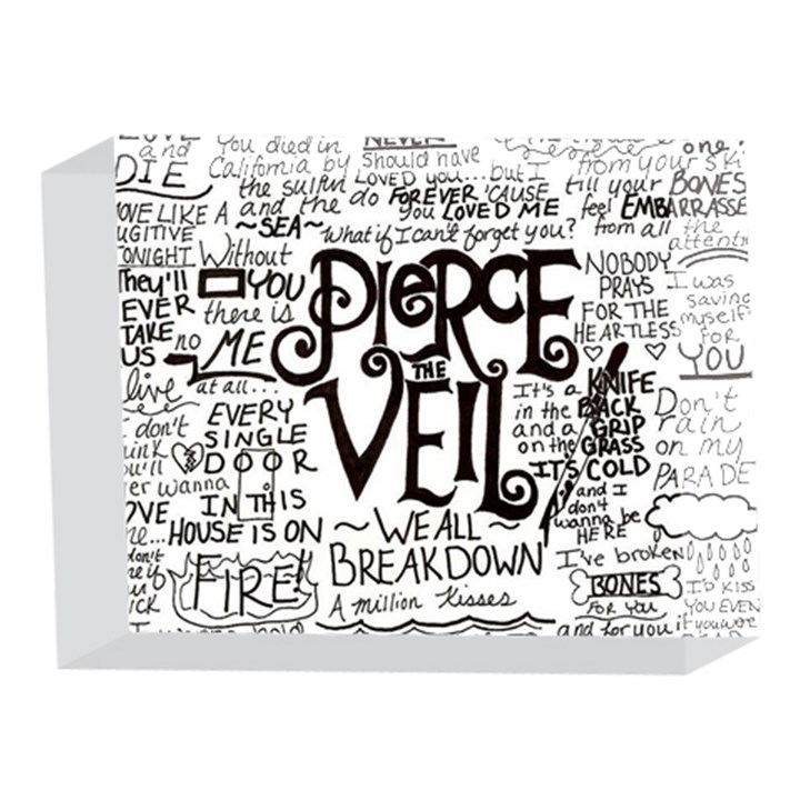 Pierce The Veil Music Band Group Fabric Art Cloth Poster 5 x 7  Acrylic Photo Blocks