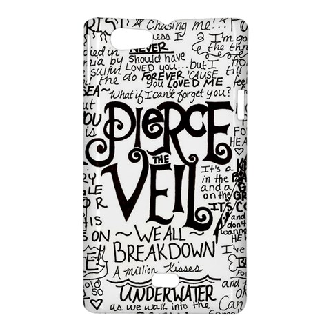 Pierce The Veil Music Band Group Fabric Art Cloth Poster Sony Xperia Miro
