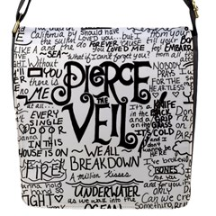 Pierce The Veil Music Band Group Fabric Art Cloth Poster Flap Messenger Bag (S)