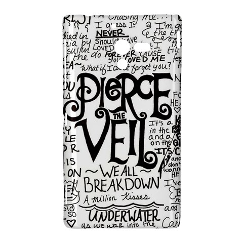 Pierce The Veil Music Band Group Fabric Art Cloth Poster Sony Xperia ZL (L35H)
