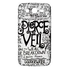 Pierce The Veil Music Band Group Fabric Art Cloth Poster Samsung Galaxy Mega 5 8 I9152 Hardshell Case