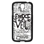 Pierce The Veil Music Band Group Fabric Art Cloth Poster Samsung Galaxy S4 I9500/ I9505 Case (Black) Front
