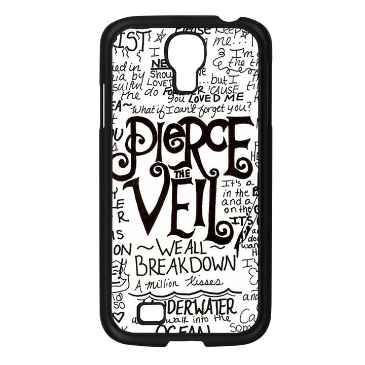 Pierce The Veil Music Band Group Fabric Art Cloth Poster Samsung Galaxy S4 I9500/ I9505 Case (Black)