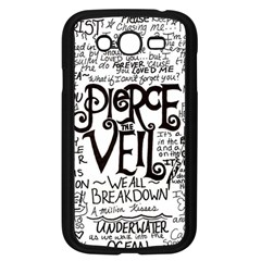 Pierce The Veil Music Band Group Fabric Art Cloth Poster Samsung Galaxy Grand DUOS I9082 Case (Black)