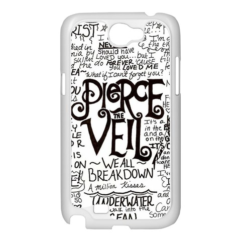 Pierce The Veil Music Band Group Fabric Art Cloth Poster Samsung Galaxy Note 2 Case (White)