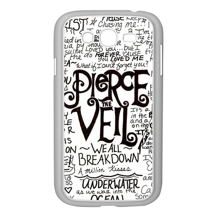 Pierce The Veil Music Band Group Fabric Art Cloth Poster Samsung Galaxy Grand DUOS I9082 Case (White)