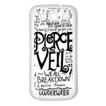 Pierce The Veil Music Band Group Fabric Art Cloth Poster Samsung Galaxy S3 Back Case (White) Front