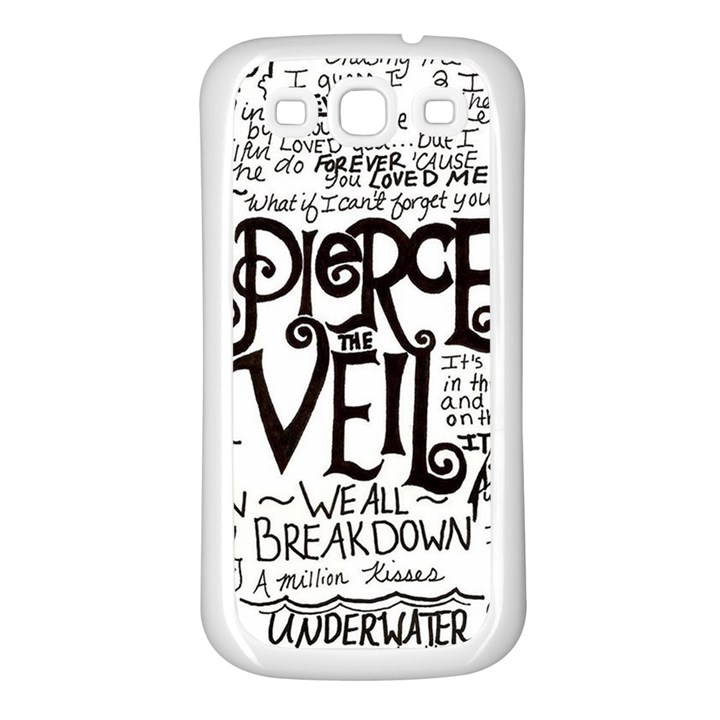 Pierce The Veil Music Band Group Fabric Art Cloth Poster Samsung Galaxy S3 Back Case (White)