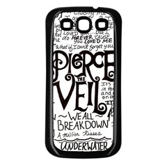 Pierce The Veil Music Band Group Fabric Art Cloth Poster Samsung Galaxy S3 Back Case (Black)