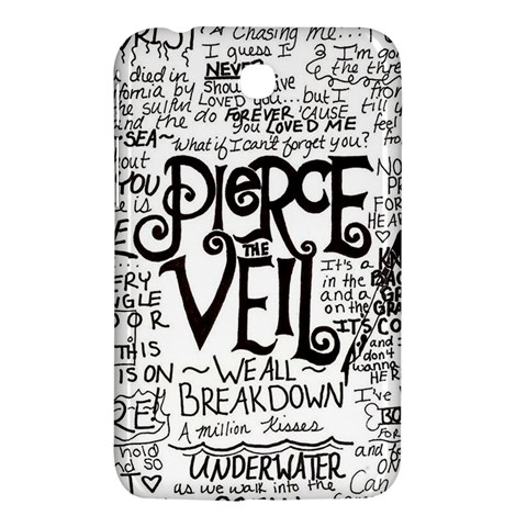 Pierce The Veil Music Band Group Fabric Art Cloth Poster Samsung Galaxy Tab 3 (7 ) P3200 Hardshell Case
