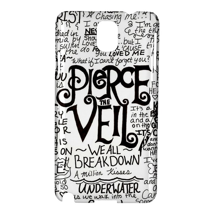 Pierce The Veil Music Band Group Fabric Art Cloth Poster Samsung Galaxy Note 3 N9005 Hardshell Case