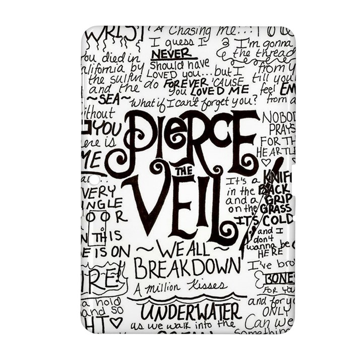 Pierce The Veil Music Band Group Fabric Art Cloth Poster Samsung Galaxy Tab 2 (10.1 ) P5100 Hardshell Case