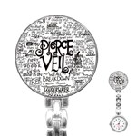 Pierce The Veil Music Band Group Fabric Art Cloth Poster Stainless Steel Nurses Watch Front