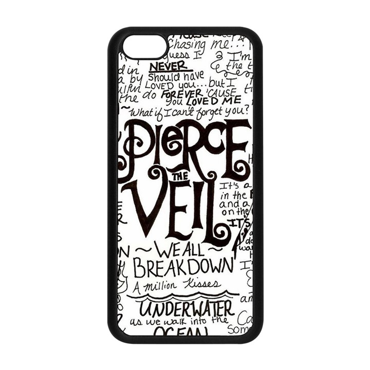 Pierce The Veil Music Band Group Fabric Art Cloth Poster Apple iPhone 5C Seamless Case (Black)