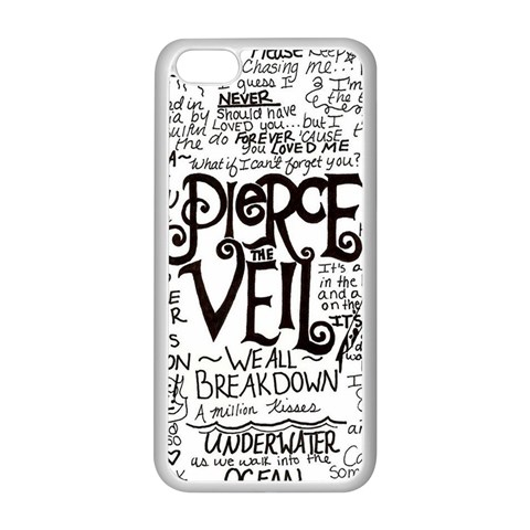 Pierce The Veil Music Band Group Fabric Art Cloth Poster Apple iPhone 5C Seamless Case (White)
