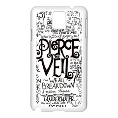 Pierce The Veil Music Band Group Fabric Art Cloth Poster Samsung Galaxy Note 3 N9005 Case (White)