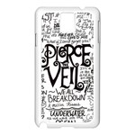 Pierce The Veil Music Band Group Fabric Art Cloth Poster Samsung Galaxy Note 3 N9005 Case (White) Front