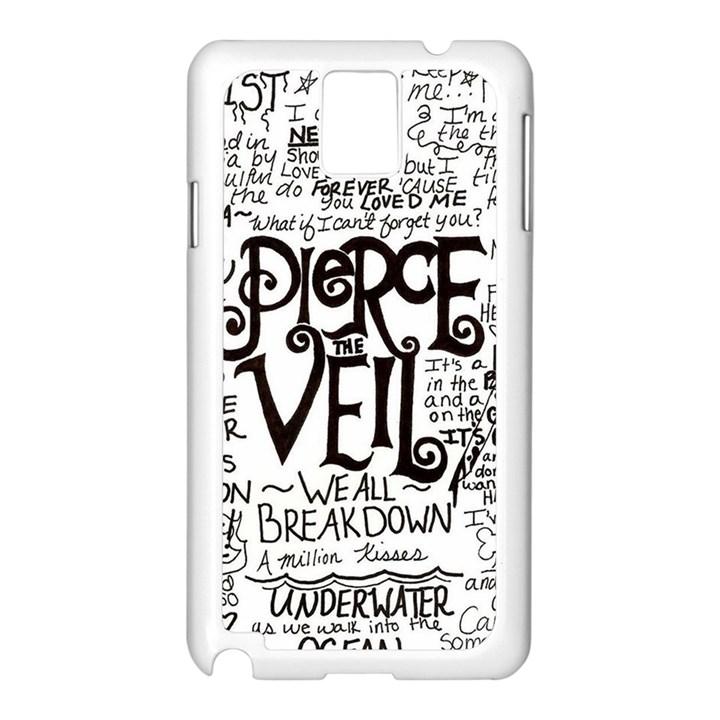 Pierce The Veil Music Band Group Fabric Art Cloth Poster Samsung Galaxy Note 3 N9005 Case (White)