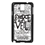 Pierce The Veil Music Band Group Fabric Art Cloth Poster Samsung Galaxy Note 3 N9005 Case (Black) Front